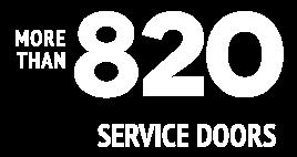 + then 820 service doors