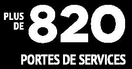 + de 820 portes de services
